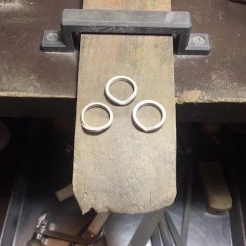 結婚指輪サンプルリング制作中
