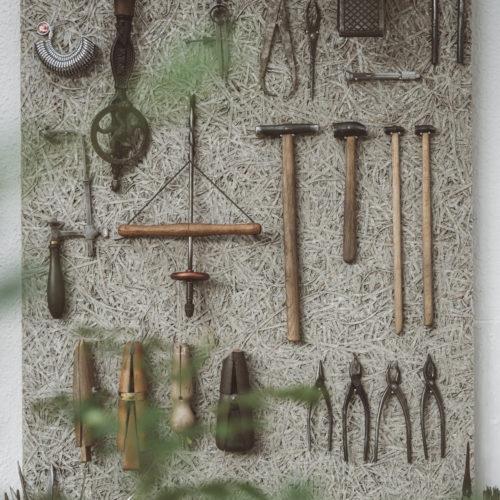 彫金工具ディスプレイ