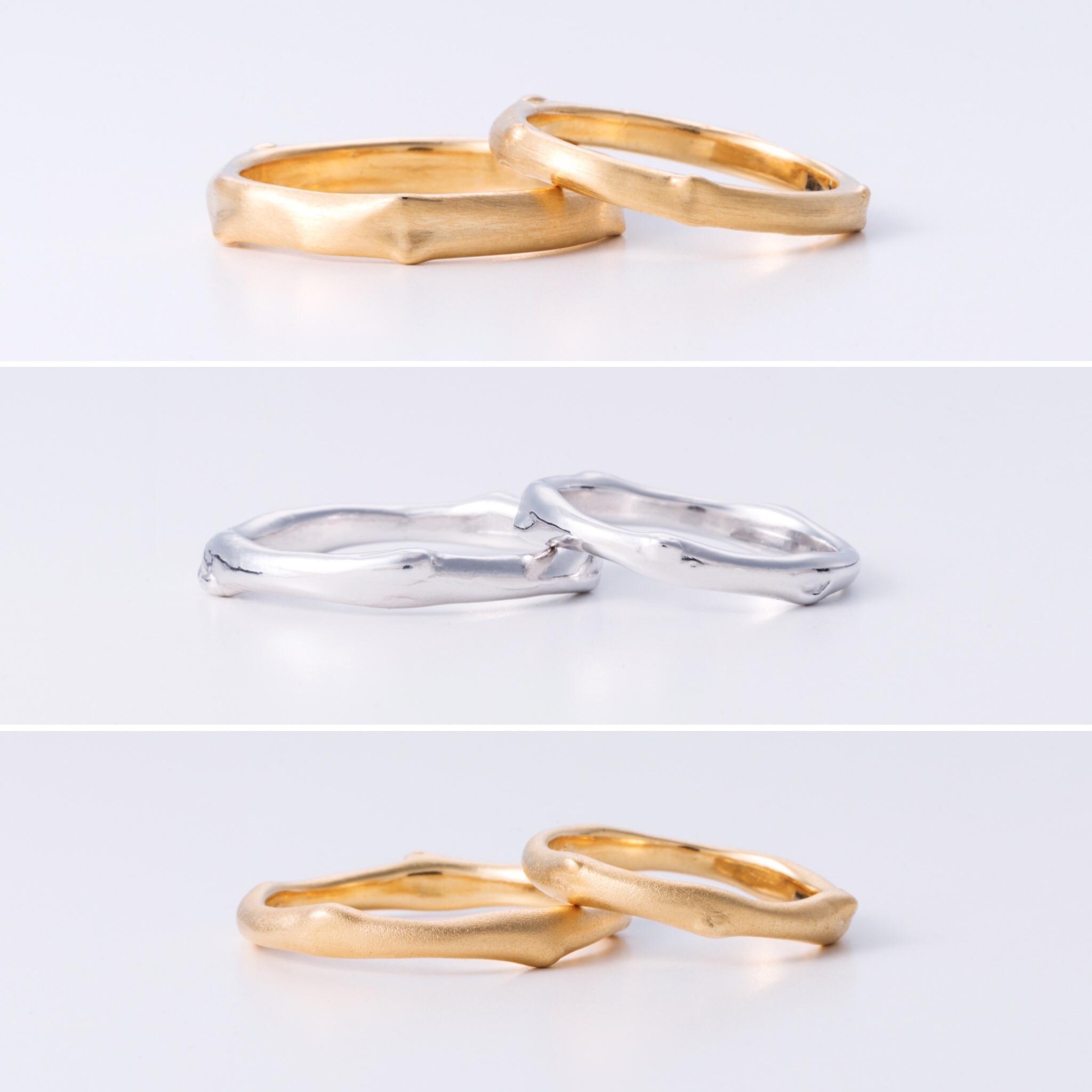 Blue Dove 結婚指輪「小枝リングシリーズ」