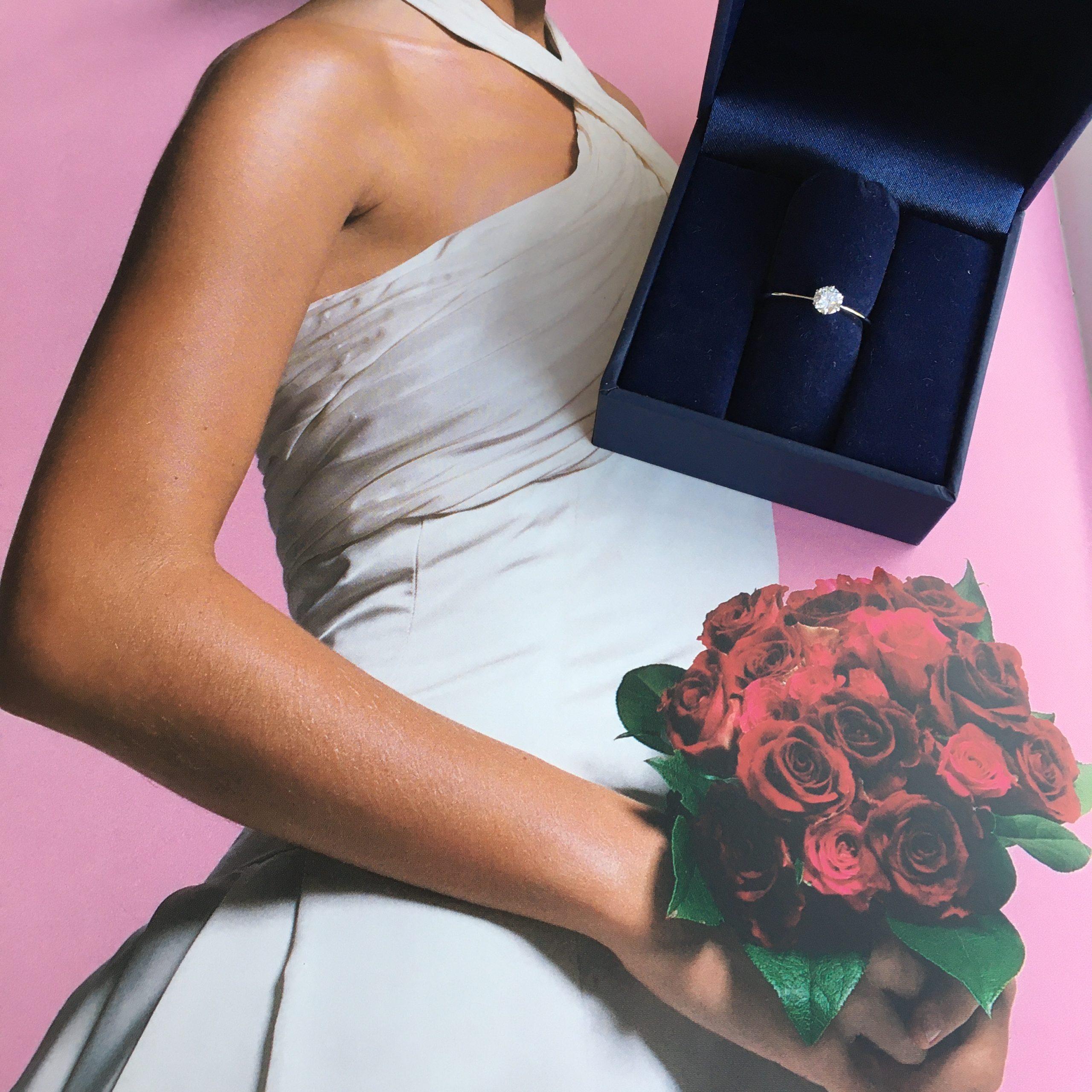 【Blue Dove 婚約指輪】