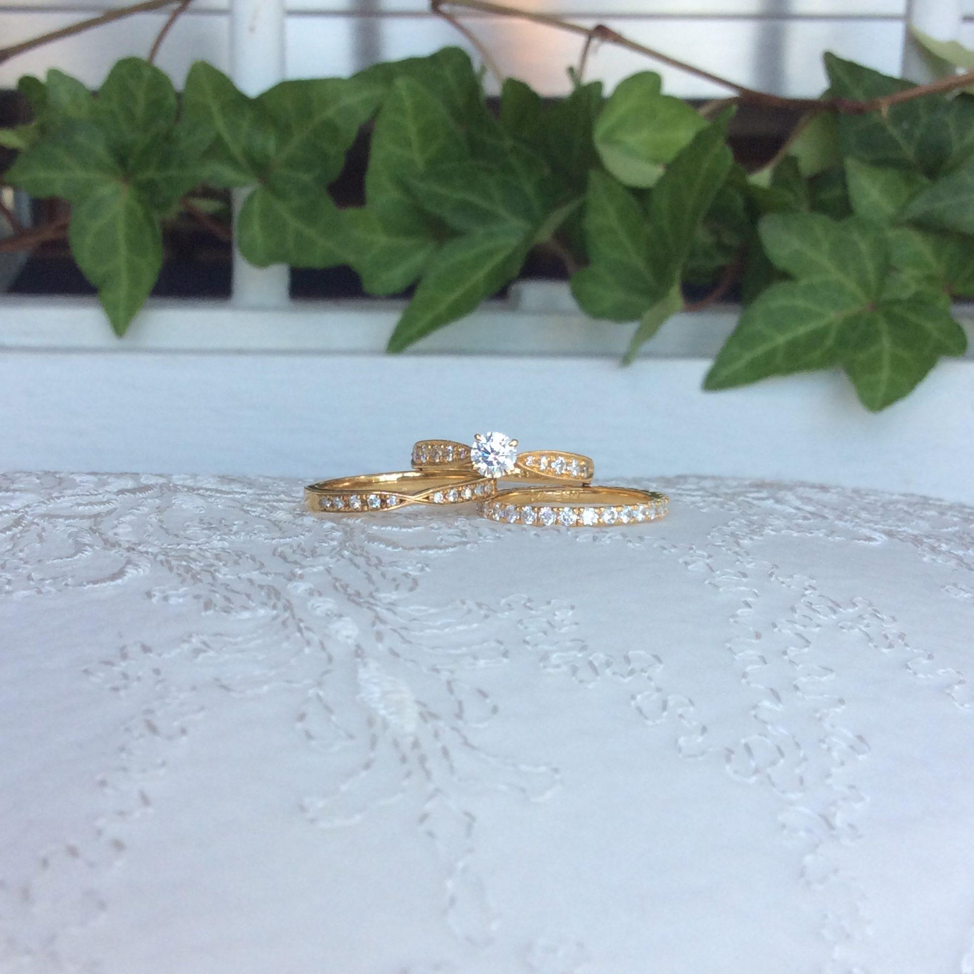 婚約指輪&結婚指輪 ~K18YG~