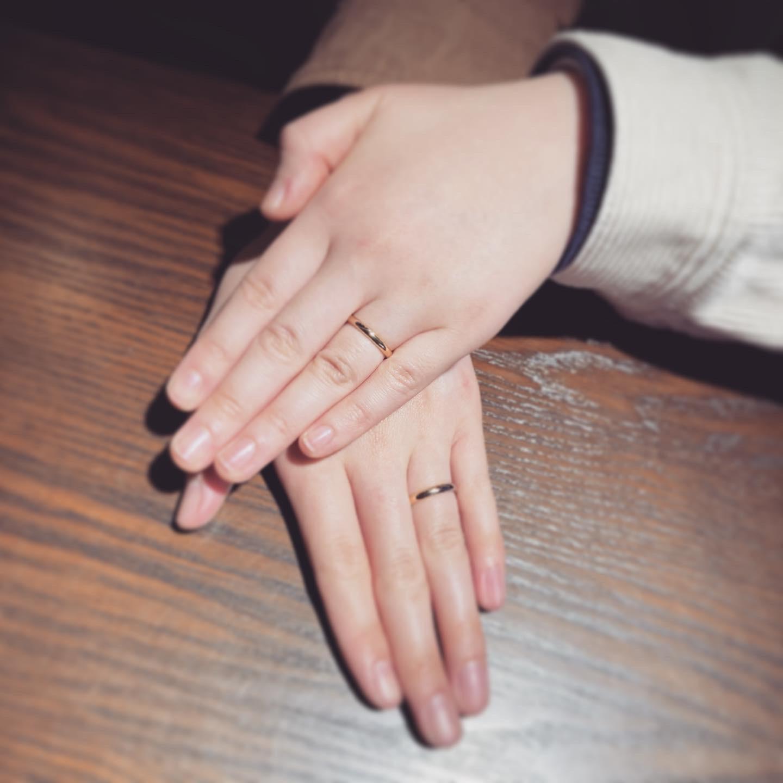 今週のオーダージュエリー結婚指輪をご紹介~コンビリング~