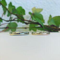 結婚指輪のご紹介。18金コンビリング、ホワイトゴールド、ピンクゴールド、イエローゴールドで製作しました。難しい作りですが良いジュエリーを作りたい思いで製作しました。