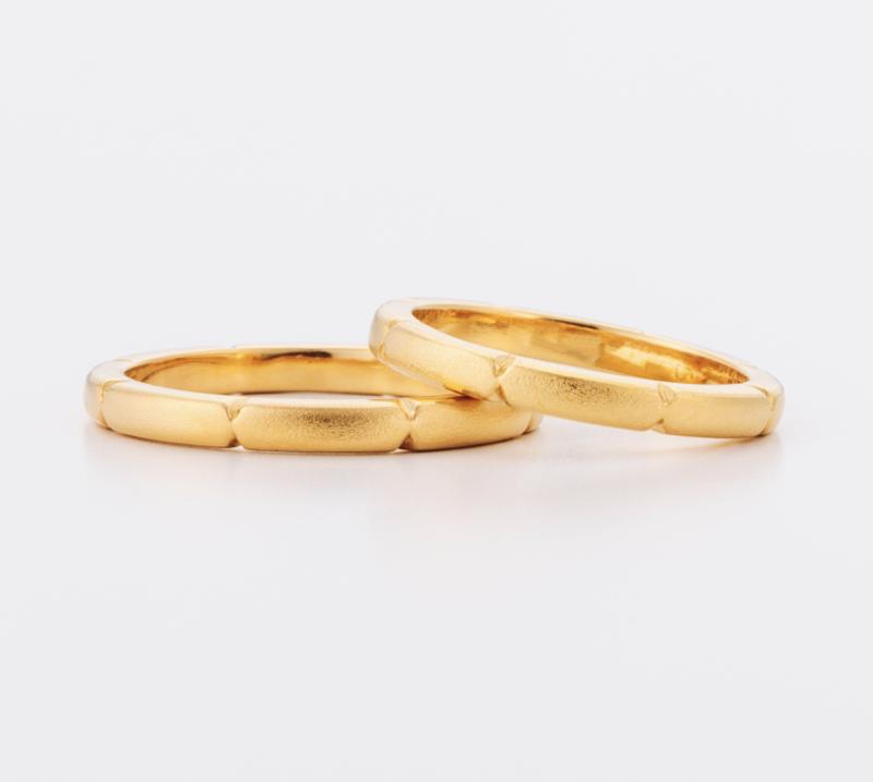Threaded Ring – Thin・結婚指輪・Blue Dove