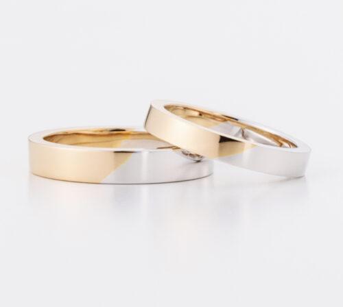 スタンダードな平打コンビリング 装着する位置によって 生活の場面に変化をもたらす結婚指輪 一本一本職人がつくりあげます craftsmanship