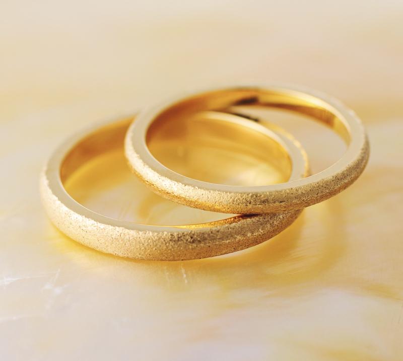 結婚指輪にtextureを