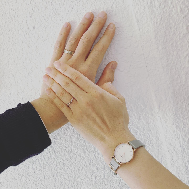 K18WGの結婚指輪
